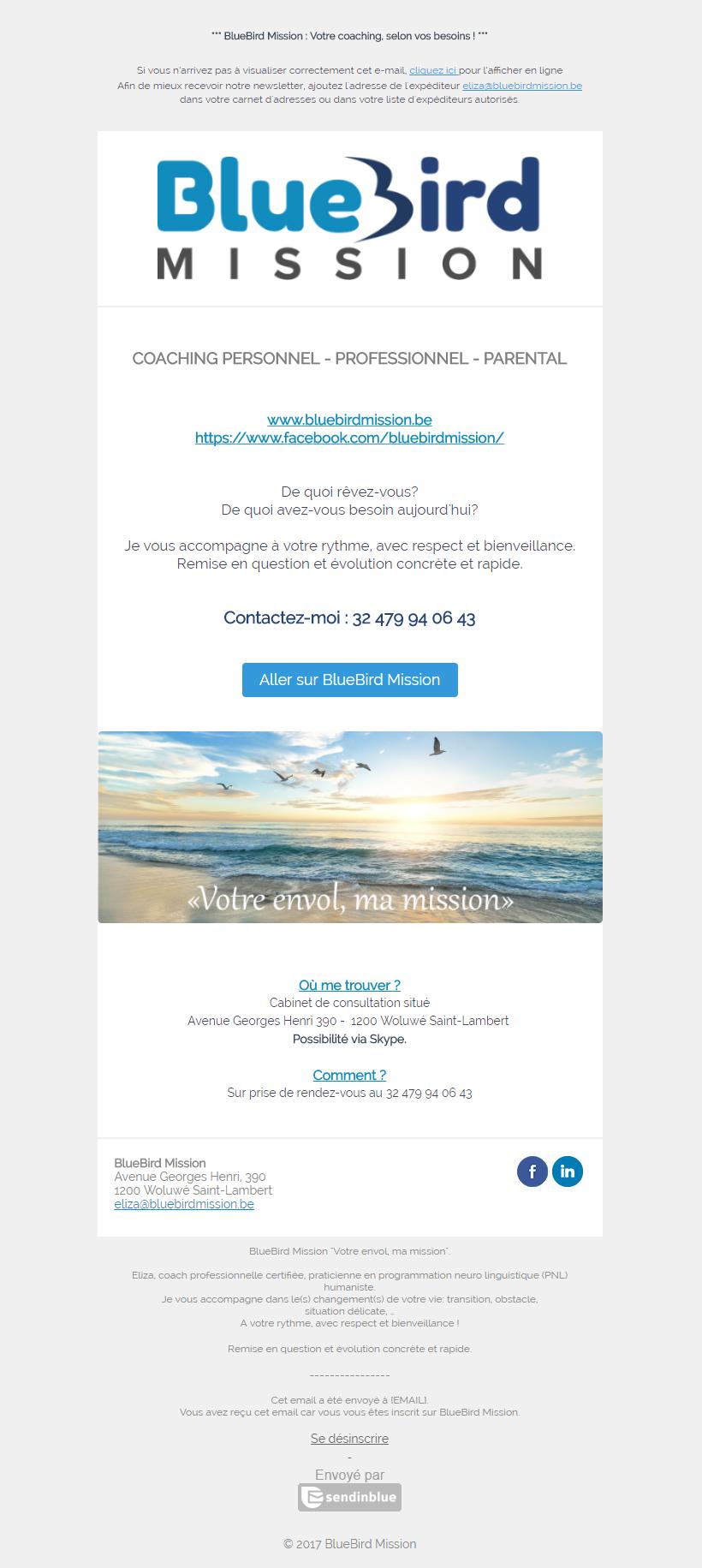 Bluebird Mission Newsletter