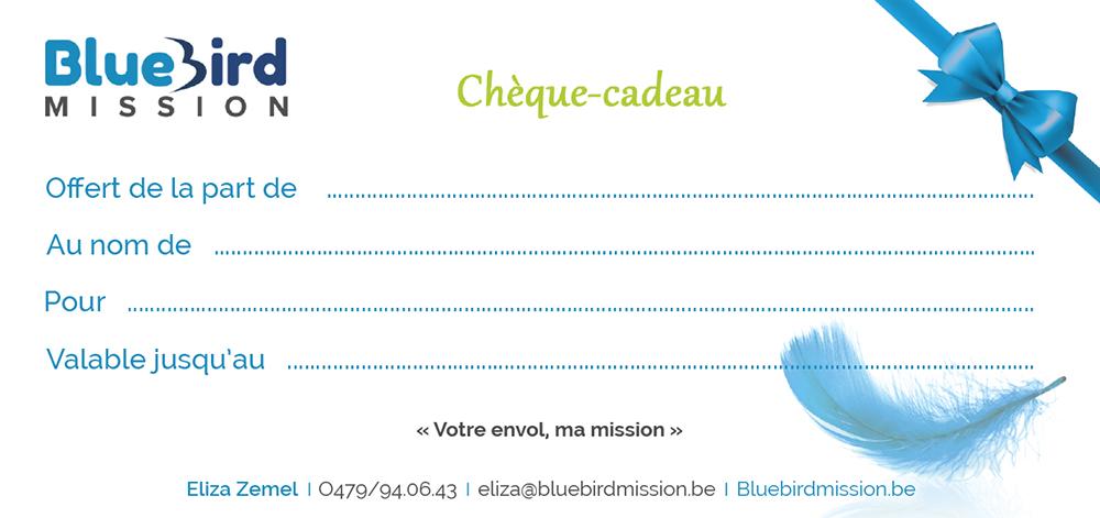 Bluebird Mission Chèque-cadeau
