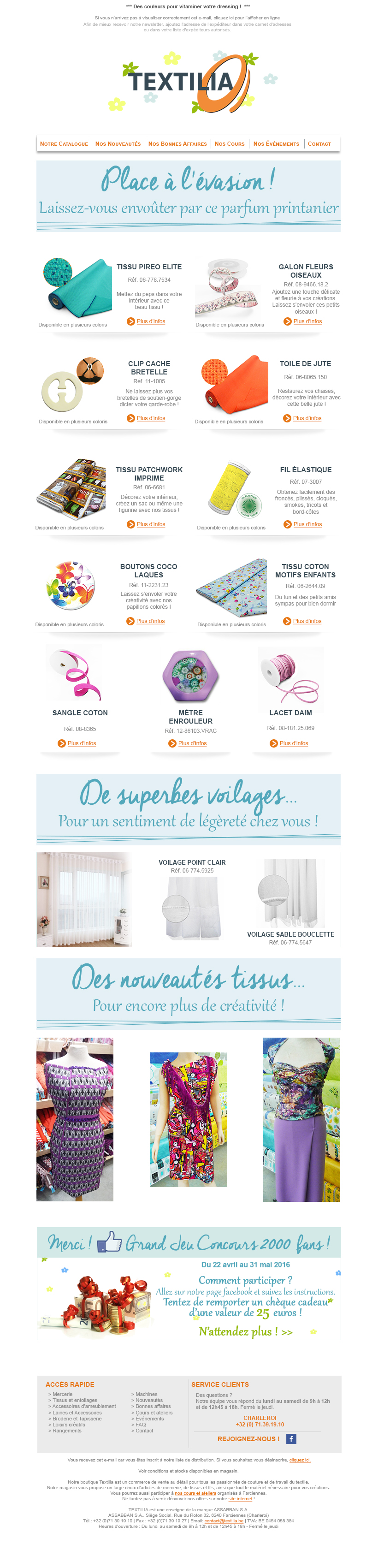 Textilia E-mailing
