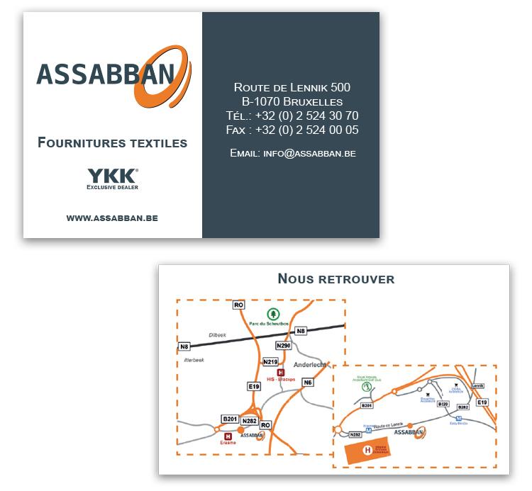 Assabban-Textilia Carte de visite