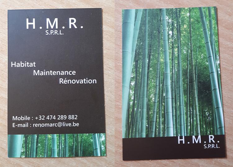 H.M.R Carte de visite