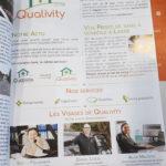 """Qualivity Planche parue dans """"La Vie à Lasne"""""""