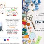 Textilia Flyer de publicité du magasin de Bruxelles