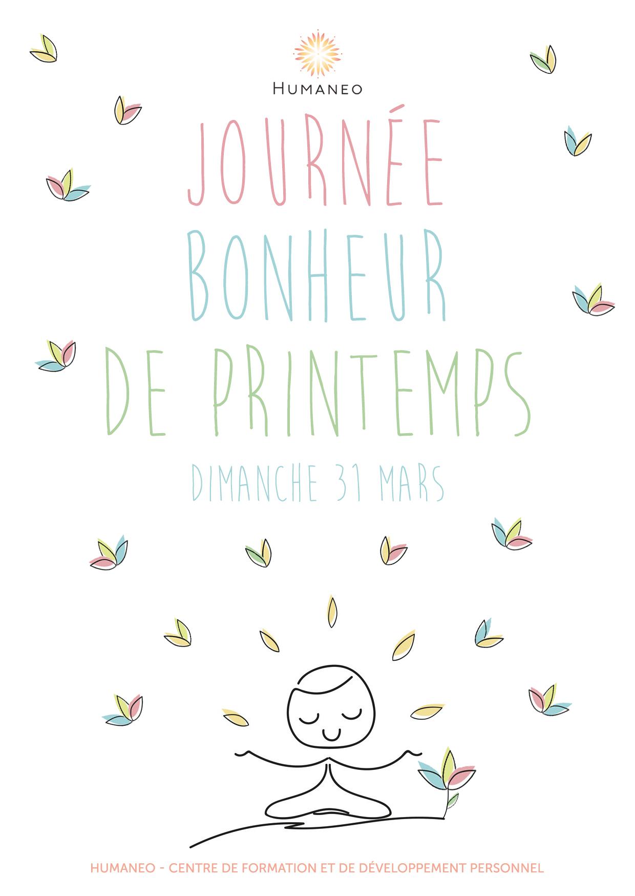 """Humaneo Flyer """"Journée Bonheur de Printemps"""""""